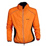 WOLFBIKE Cycling Jacket Jersey Sportswear Long Sleeve Wind Coat, Color: Orange, Size: XL