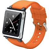 iWatchz CLRCHR22ORG Q Collection Wrist Strap for iPod Nano 6G, Orange