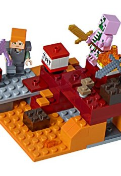 Livres Couvertures de LEGO - 21139 - Minecraft - Jeu de Construction - la Bataille du Nether
