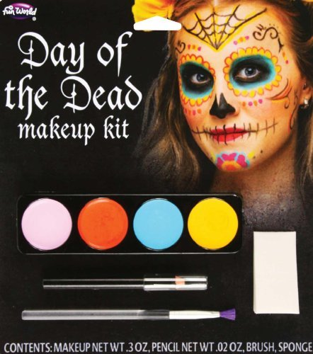 Day Of The Dead Female Makeup Kit (colors may vary)