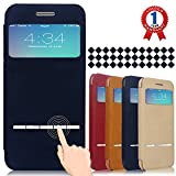 iPhone 6 Plus Case, Aerb Classic Series Smart Window View Touch Metal Front Flip Cover Folio Case for iPhone 6 Plus 5.5