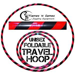 Hula Hoops - Large Weighted Travel Hoola Hoop - Black/UV Pink