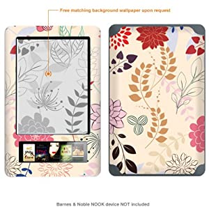 Protective Decal Skin Sticker for Barnes & Noble Nook case cover NOOK-424
