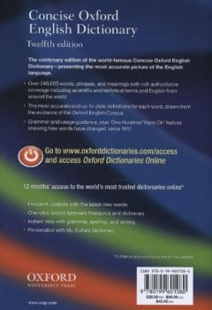 Livres Couvertures de Concise Oxford English Dictionary: Main edition