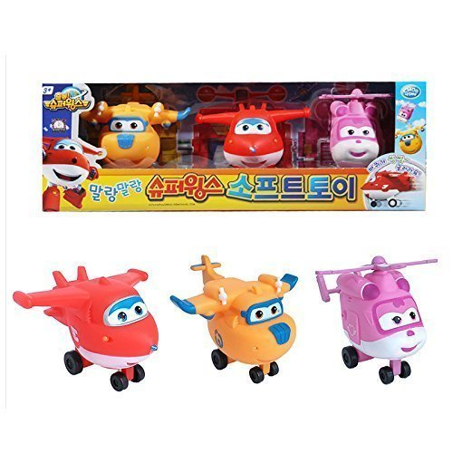 Adorable Jet Plane Character Super Wings Soft Toy 3Pcs – Hogi(Jett) Donnie Ari (Dizzy)