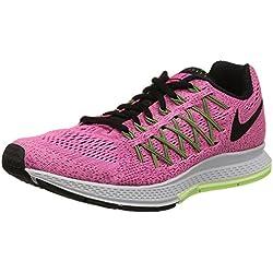 Nike Damen Air Zoom Pegasus 32 Laufschuhe, Pink (Pink Pow/Black-Barely Volt-Ghost Green 600), 38.5 EU / 7.5 US