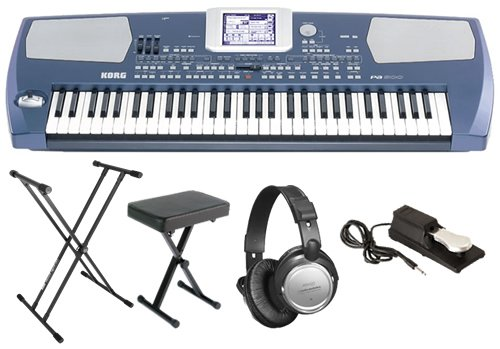 Korg Pa500 Arranger ESSENTIALS BUNDLE w/ Bench, Stand & Sustain Pedal