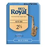 Rico Royal Alto Sax Reeds, Strength 2.5, 10-pack for $18.99 + Shipping