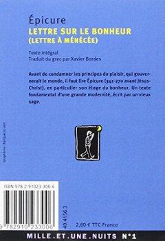 Livres Couvertures de Lettre sur le bonheur : Lettre à Ménécée