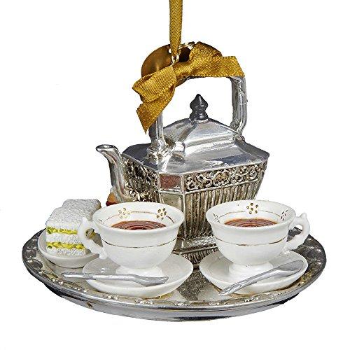 Kurt Adler Downton Abbey Teapot Set Ornament