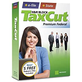 H&R Block TaxCut 2008 Premium Federal + State + e-file
