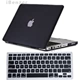 iBenzer - 2 in 1 Rubberized Black Hard Case Cover and Keyboard Cover for Macbook Pro 13 inch 13