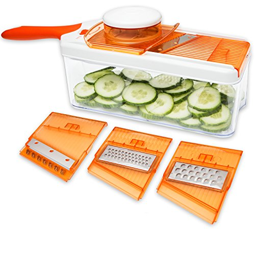 grater & julienne slicer,adjustable mandoline slicer,video review,vegetable cutter,slicer,(VIDEO Review) Adjustable Mandoline Slicer - 4 Blades - Vegetable Cutter, Peeler, Slicer, Grater & Julienne Slicer,