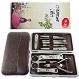 Manicure Set 12pc in 1 Nail Clipper Earpick Grooming Pedicure kit Man Woman FF2