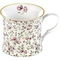 Katie Alice Ditsy White Floral Bone China Shabby Chic Mug