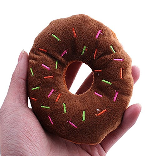 Squeaky Pet Donut Toy