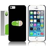 iPhone5 ICカード スロットイン 収納 ケース 片手で簡単出し入れも可能! ブラック(黒) 《MOBILE STUDIO オリジナル 電波干渉防止シート 付き》Black
