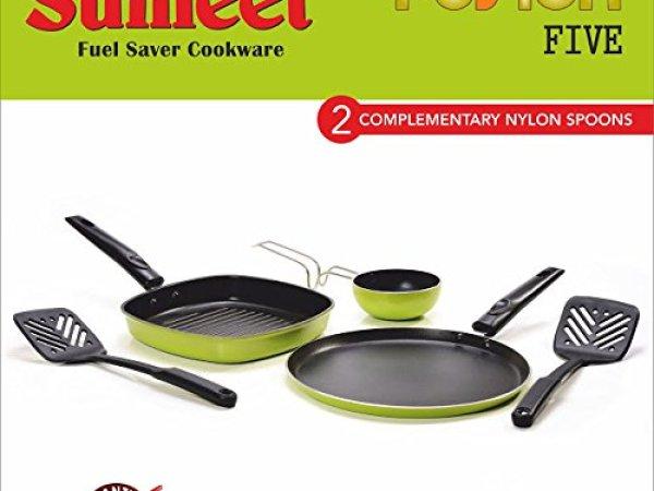 Sumeet Fusion Five Nonstick Gift Set (Dosa Tawa: 11 IN, Grill Pan:1 Liter, Tadka Pan: 150 Ml)