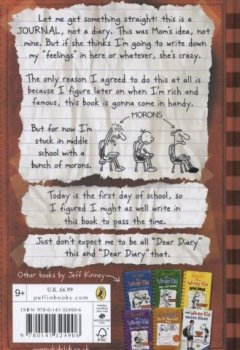 Livres Couvertures de Diary Of A Wimpy Kid (Book 1)