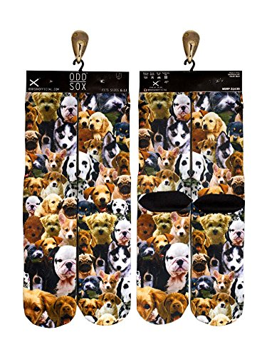 Odd Sox Puppies Socks, Fits Sizes 6-13