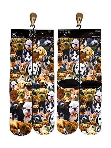 Odd Sox Puppies Socks, Fits Sizes 6-13