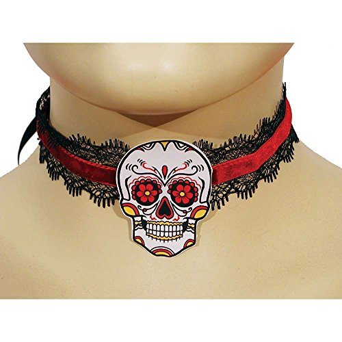 HMS Men's Day Of The Dead Choker, Black, One Size