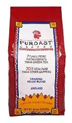 Puroast Low Acid Coffee Organic House Blend Drip Grind, 2.5 lb.