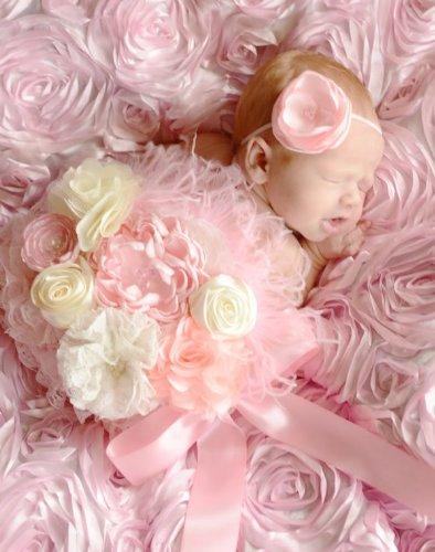 マタニティフォト撮影用リボンベルト☆ピンククリーム 「ママを選んでくれてありがとう。」マタニティサッシュベルトは、妊婦のおなかと生まれてきたベビーとで2回分の写真を撮ります。すると、涙がでるほど感動的なお写真ができあがって・・・