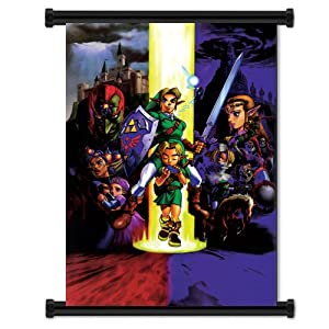 "Legend of Zelda: Ocarina of Time Game Fabric Wall Scroll Poster (16""x21"") Inches"