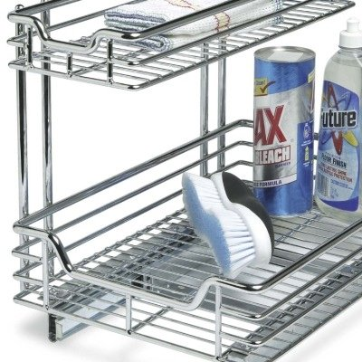 Household Essentials C6512 Two Tier Sliding Cabinet
