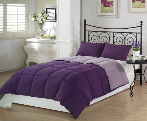 Chezmoi Purple Lilac Comforter