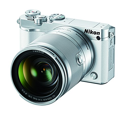 Nikon 1 J5 Mirrorless Digital Camera w/ 10-100mm Lens (White)