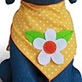 Dog Bandana with Flower Applique (Large)