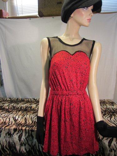 Leopard Minikleid,Minikleid ,Kleid mit Leopardmuster,Rockabilly,Red Leopard