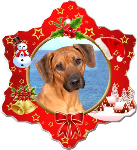 Rhodesian Ridgeback Porcelain Holiday Ornament