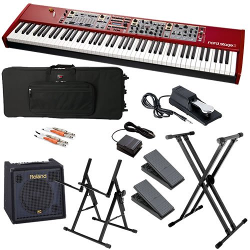 Nord Stage 2 88-Key Stage Piano STAGE BUNDLE w/ Keyboard Amp & Case