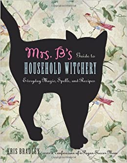 A book cover with a floral print background and a silhouette of a black cat.  Title reads