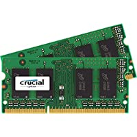 Crucial 16GB Kit (8GBx2) DDR3-1600 MT/s (PC3-12800) 204-Pin SODIMM Notebook Memory CT2KIT102464BF160B / CT2CP102464BF160B