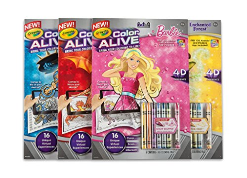 barbie color alive pages crayola color alive action coloring
