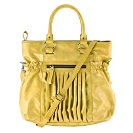 Product Image Angie & Lola Satchel with Pleats - Mustard