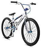 "SE Bicycles Floval Flyer BMX Bicycle, 24"", High Polished Silver"