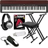 Yamaha P-155 Digital Piano ESSENTIALS BUNDLE w/ Stand & Bench