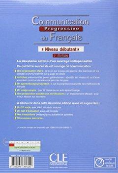 Livres Couvertures de Communication progressive du français - Niveau débutant - Livre + CD - 2ème édition