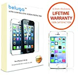 Beluga® [Premium Tempered Glass] for Apple iPhone 5S / iPhone 5C / iPhone 5 - Tempered Glass Screen Protector - Scratch Proof - Shatter Proof - Ultra Clear - Easy to Install [1-Pack, 2.5D Rounded Edges] - Front and [Free Back Protective Film] [Super Thin 0.3mm]