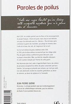 Livres Couvertures de Paroles de poilus : Lettres et carnets du front (1914-1918)