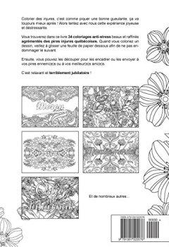 Livres Couvertures de Mon cahier d'injures québécoises à colorier: Le premier cahier de coloriage adulte québécois avec injures et jurons