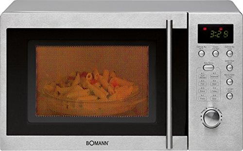 Bomann MWG 2211U CB Mikrowelle / 800 Watt / Grill 1000 Watt / 20 L Garraum / schwarz-silber