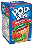 Pop-Tarts, (Not Frosted) Strawberry, 8-Count Tarts (Pack of 12)