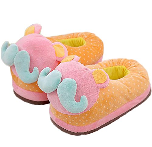 Crazystone's Cute Cartoon Plush Cotton Slippers (23-25cm)/(9.1-9.8in)