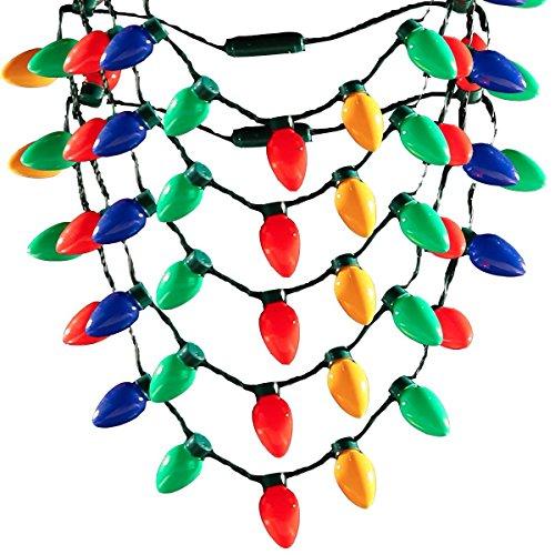 San Tokra 1Pcs LED Light Up Christmas Holiday Flashing Light Necklaces